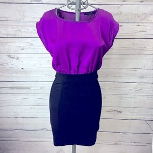 Forever 21 Purple & Black Dress
